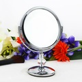 Plástico redondo salão de vaidade espelho de maquiagem, table top espelho