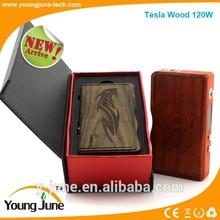 2015 best selling productsl Tesla 120w mod VS dmitri box mod.box tesla wood