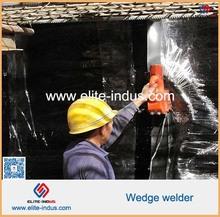 Wheel mounted wedge welder for 0.5mm geomembrane