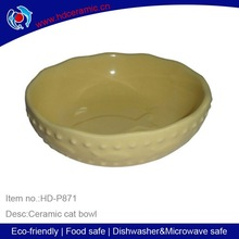 ceramic bowl with solid color ,white color ceramic bowls with glazing,hot sell Super Cat bowl with fish shape inside