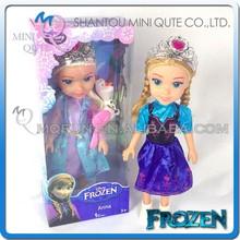 "Mini Qute 36 cm Kawaii with ""Let it go"" music electronic Plastic cartoon Frozen doll princess anna & elsa olaf children toys"