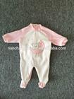 2015 80% cotton 20% polyester velour romper for baby girl