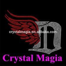 2015 shoes with wings logos crystal motif hotfix rhinestone transfer