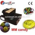 Alta- velocidade a4 impressora plana de direto para chocolate, mm de bala, bolo etc