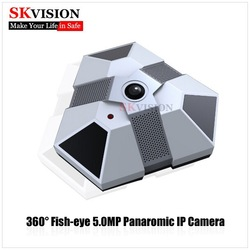 SKVISION 360 Degree Panoramic with Montion Detection 5.0MP Fisheye IP Camera Security Cam