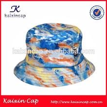 oem galaxy cheap bucket hat/cap/wholesale tie dyed bucket cap