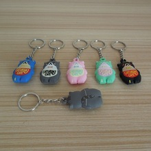 Promotional Animal Keychain Items - 3D Baby Cats MIAO Kids Favourate Gifts Key Ring Key Tag