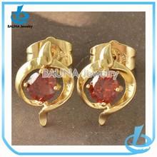 Latest crystal jewelry type chunky alloy fashion wedding gold ruby wedding ring