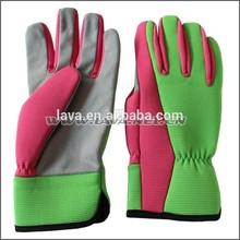 Fashion Leather Ladies' Gardening Glove, Nice Garden Hand Gloves For General Use
