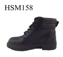 High Quality Full Grain Leather Black Thick Warm Snow Boots Shot Ankle army Boots