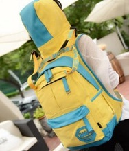 Hiking women fashion nice canvas backpack 2015 wholesale top leather girls shoulder bags