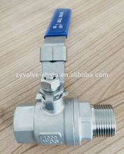 2 inch stainless steel ball valve, full port, 1000wog, PN64