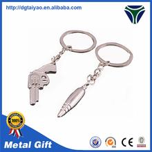 Fashional bullets and gun 3d models key ring