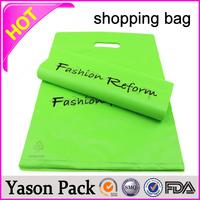 Yason .plastic shopping gift packaging soft loop plastic shop handle bag cheap logo shopping tote bags