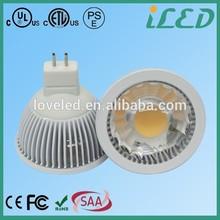 ETL UL listed 80ra 90lm/w Daylight 4000k 5W led spot light gu5.3 base DC 12V led light mr16
