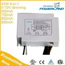 600mA 700mA 800mA 900mA 4 Level Current Output 0-10V 30W 38W 40W 42W Dimmable Led Driver