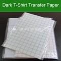 A3 a4 Wärme t-shirt transfer papier großhandel für 100% baumwolle und dunklen stoff