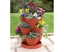plastic stackable planter pot/plant pot on sale/garden supplies