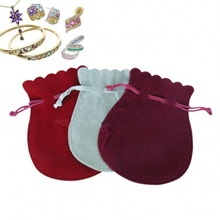 small custom printed suede jewelry pouches/velvet jewelry bags