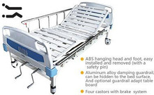Factory direct double cranks monitoring bed with ABS bed head double bed