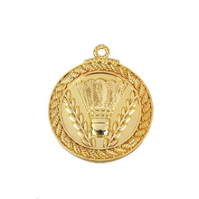 China factory custom arts and craft gold round medal ribbon in souvenirs