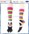 Rainbow panda enfants socks fuzzy/chaussette tricotée motif libre./d'épaisseur. chaussette orteils