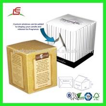 Q699 China Wholesale Elegant Printable White Folding Custom Candle Boxes Packaging