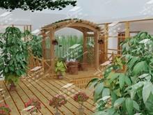 Modern outdoor garden gazebo pavilion