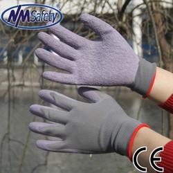 NMSAFETY 13 gauge garden glove ladies rubber latex work gloves