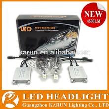 KARUN Adjustable Focal Length Super Bright 9000LM LED Car Headlight Bulbs H4 High Low