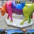 N-w-y-119 parque de decoração de fibra de vidro decorativo estátua de vaca