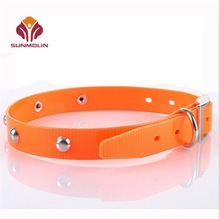 Wholesale hunting dog collar TPU coated nylon dog collar
