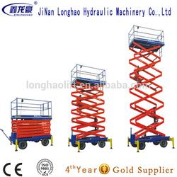telescopic lift/electric moto 14m mobile scissor lift made in China