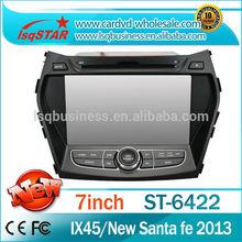Car DVD GPS For Hyundai IX45 New SantaFe Audio Video Radio RDS Navi Bluetooth Phonebook TV Ipod FREE Shipping+Map
