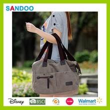 Alibaba China woman canvas shoulder bag, ladies tote bag