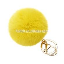 Colorful Rabbit Fluffy Fur Balls Keychains