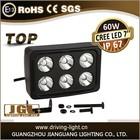 New design Square CREE 60W LED work light/lamp, car ATV SUV off road tractor headlight, 10W led working lights
