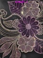 Indiana de seda tecido tecido africano, chiffon com veludo cl6285-7 dos cristais