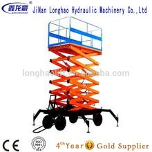 telescopic lift/electric moto 6m mobile scissor lift made in China