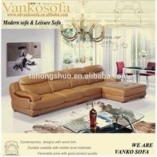 2014 royal luxury living room top leather corner sofas 720#