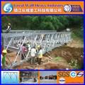 15,24M 50ft temporaral HD200 SSR Cercha individual, A ras del suelo, reforzado y galvanizado de un solo carril puentes bailey a Indonesia