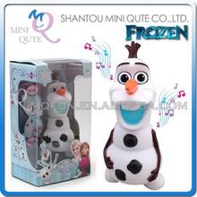 Mini Qute 17 cm cartoon plastic Frozen princess anna & elsa music olaf kids educational electronic toys piggy bank money box