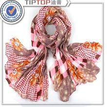 woman fashion low moq custom scarf, polyster scarf
