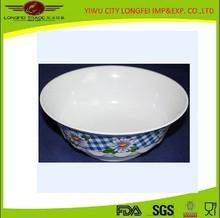 Dinnerware Custom melamine Soup Salad Bowl Deep Dinner Plate