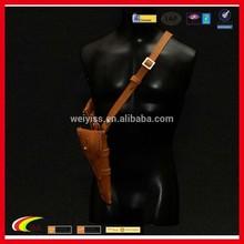 Vintage leather gun case with belt
