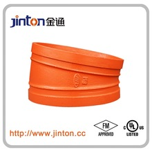 FM&UL approved pipe fitting of Ductile Iron Pipe Fittings 22.5 Degree flexible rubber pipe fittings elbow