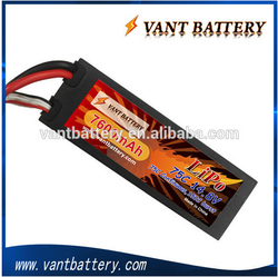 High quality lipo 14.8v rc car battery pack 7600mah 75C high discharge rate