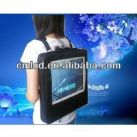 2015 name brand 22'' digital led walking billboards street publicity LCD Human Signage backpack lcd advertising display