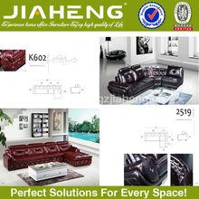 Elegant fashionable 100% top grain imported leather sofa price