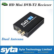 Car DVB-T2 digital tv receiver HD 1080P Dual antenna Mobile high speed factory supplier